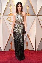 Sandra Bullock - Loving this ombre sequin dress, it really highlights her figure and looks beautiful.